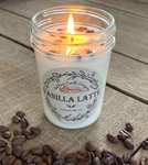 Vanilla Latte Aromatherapy Candle | All-Natural Soy Wax & Coffee Beans | Essential Oil Infused | Odor Eliminating + Relaxation | Toxin Free