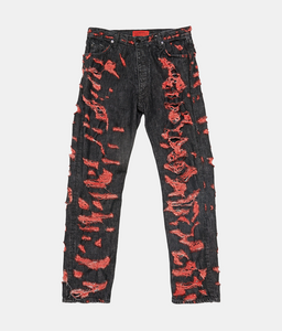 Spiritual Jeans in Black/Red