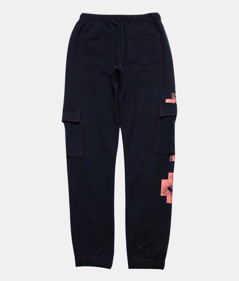 Cross Cargo Sweatpants - Black