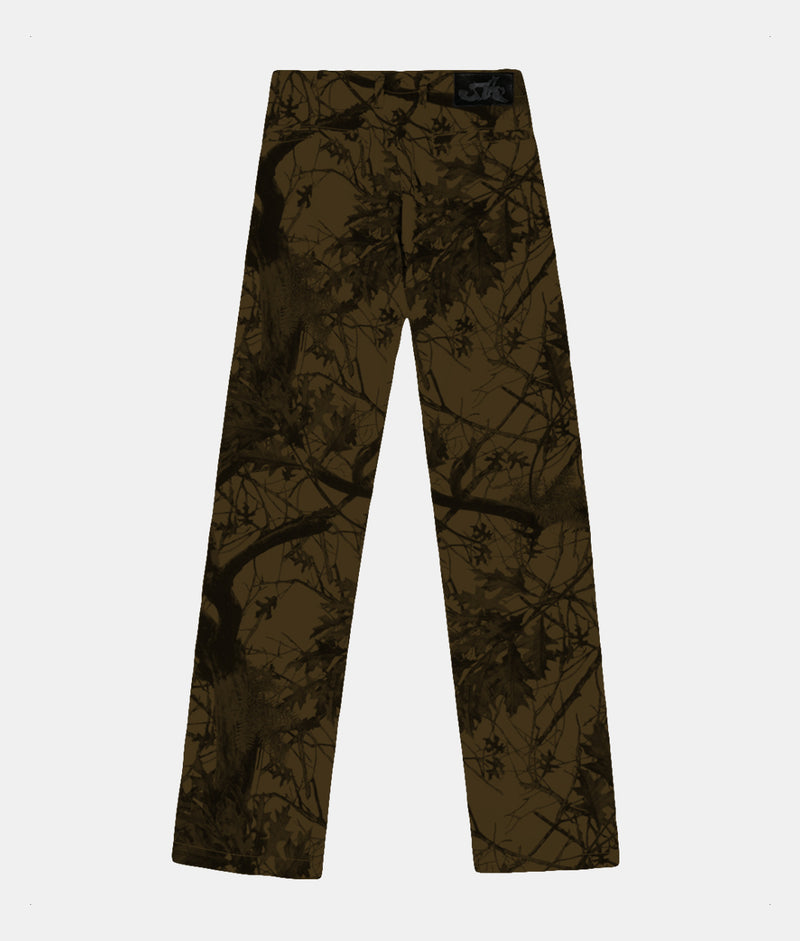 BLOOD TREE CAMO WORK PANTS (BROWN)