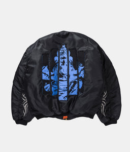 REVERSIBLE PATCHWORK BOMBER JACKET