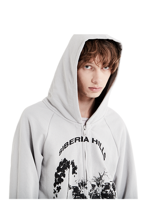 Siberia Zip-Up Hoodie Grey