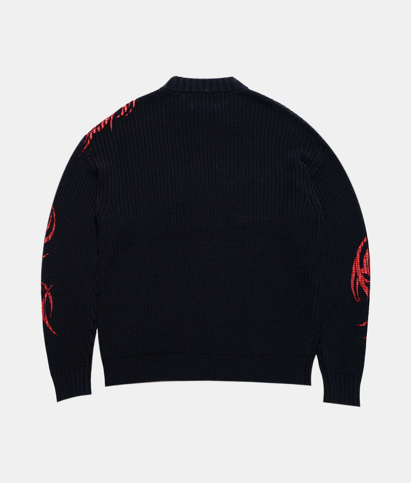 Story Of The Sun Sweater - Black / Red