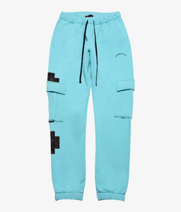 Cross Cargo Sweatpants - Teal
