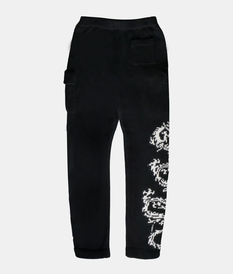 HEAVY TRIBAL KNIT SWEATPANTS