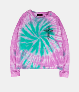 Ghost Cross Longsleeve Tee - Tie Dye