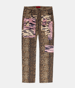 Patchwork Hiker Pants - Leopard