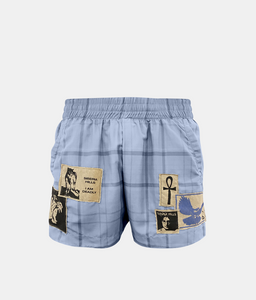 PATCHWORK SHORTS (BABY BLUE)