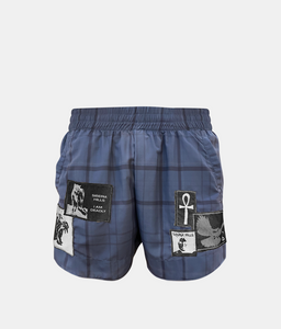 PATCHWORK SHORTS (NAVY)