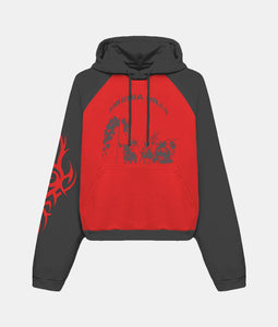 TRIBAL BATWING HOODIE (RED/BLACK)