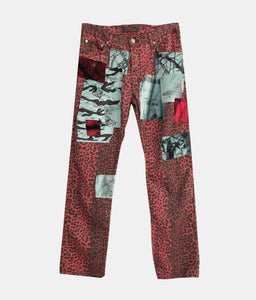 PEACE PATCHWORK HIKER PANTS - CHERRY
