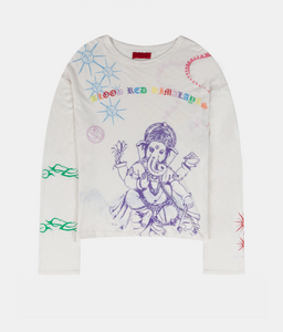 HIMALAYAS TATTOO LONGSLEEVE WHITE / MULTI