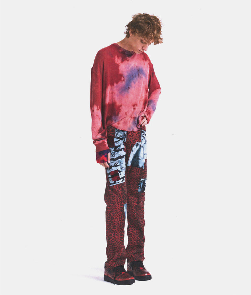 TIE DYED THERMAL - ACID PINK / RED