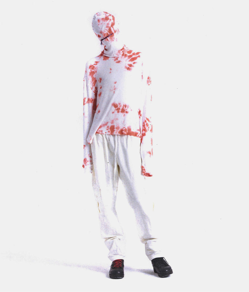 TIE DYED THERMAL - SNOW / RED