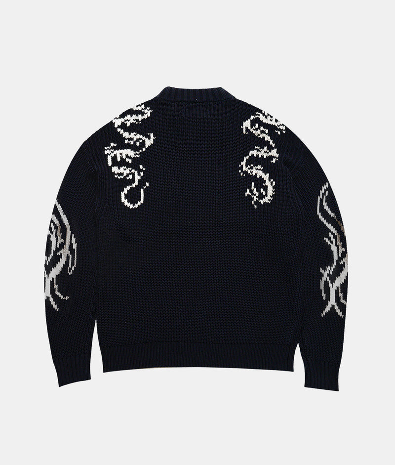 HEAVY TRIBAL KNIT SWEATER