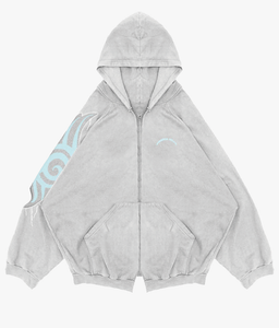 TRIBAL PATCH ZIP UP (GREY)