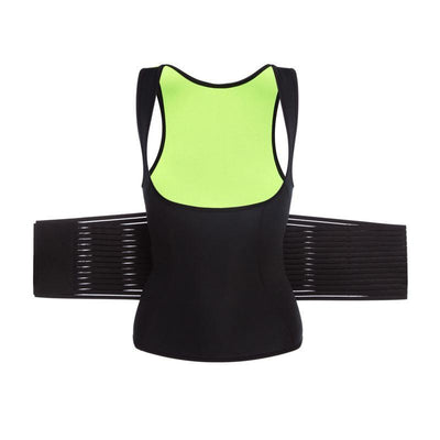Body Shaper Vest With Waist Trainer Belt Sweat Waist Corset Shapewear - Fitactivityshop