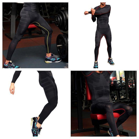 Men Tight Sportswear Compression Leggings Quick Dry Yoga Pants