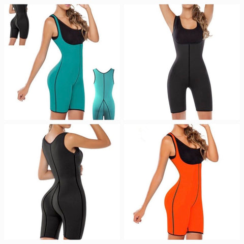 Waist Trainer Neoprene Body Shaper Bodysuit Slimming Full Shapewear Sauna Suit