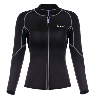 Women Sauna Suit Long Sleeve Neoprene Body Control Shapewear - Fitactivityshop