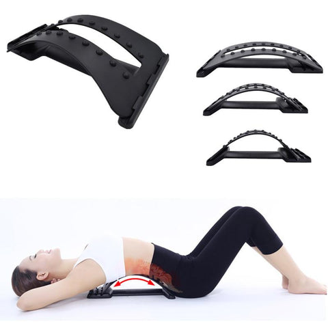 Back Massage Stretcher Stretching Magic Lumbar Support Waist Neck Relax Mate Pain Relief - Fitactivityshop
