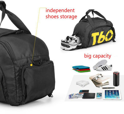Sports Gym Backpack Shoulder Bag With Shoe Storage   Fitactivityshop