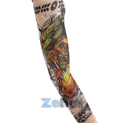 Summer Outdoor Sports Cool Tattoo Arm Sleeve UV Sun Protection - Fitactivityshop