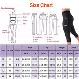 High Waist Elastic Women's Yoga Pants Workout Capri Leggings With Tight Side Pocket-size