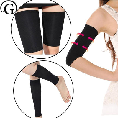 Invisible Slimming Arms Shaper Massage Thigh Wrap Control Legs Girdles Body Shapewear 3pcs/set - Fitactivityshop