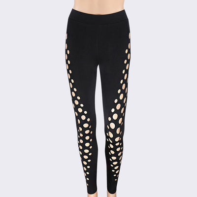 Women's Hollow Sports Yoga Workout Gym Fitness Leggings Pants - Fitactivityshop
