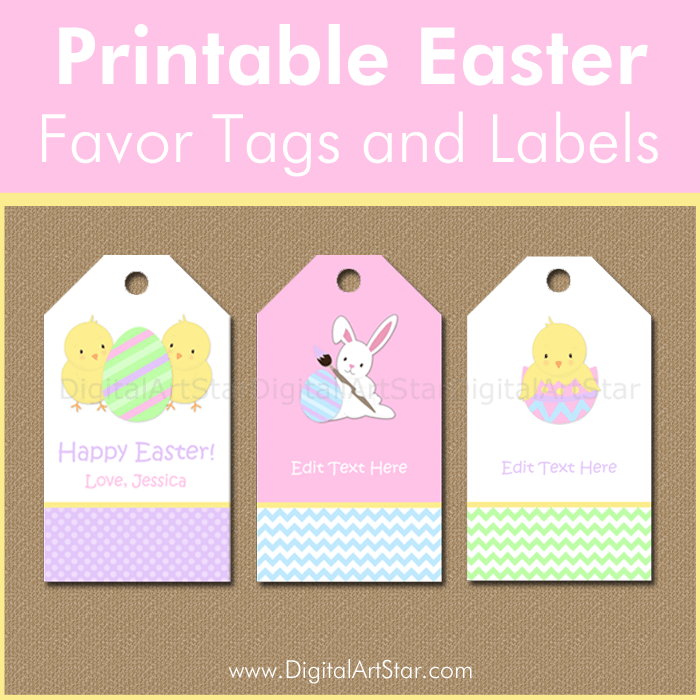 Easter Printable Favor Tags and Easter Printable Labels