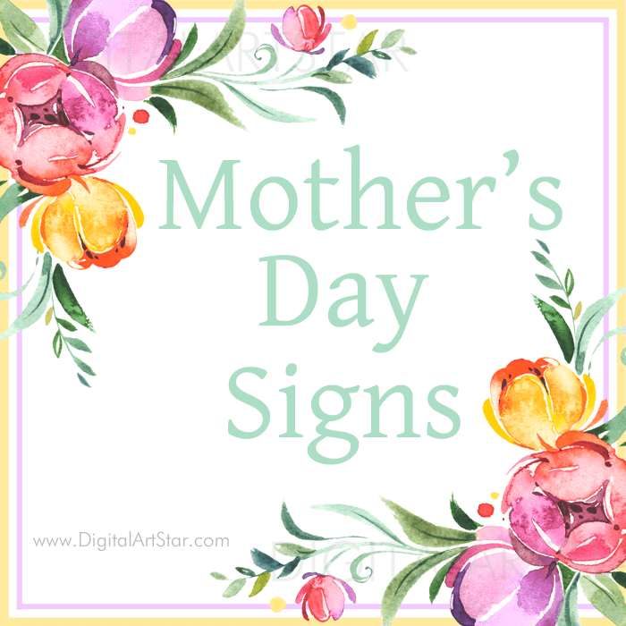 Happy Mothers Day Sign Decorations
