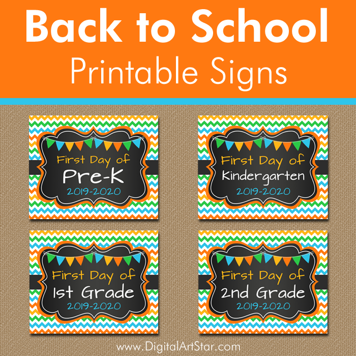 image relating to First Day of Pre K Sign Printable referred to as Again in the direction of Higher education Printable Symptoms Electronic Artwork Star