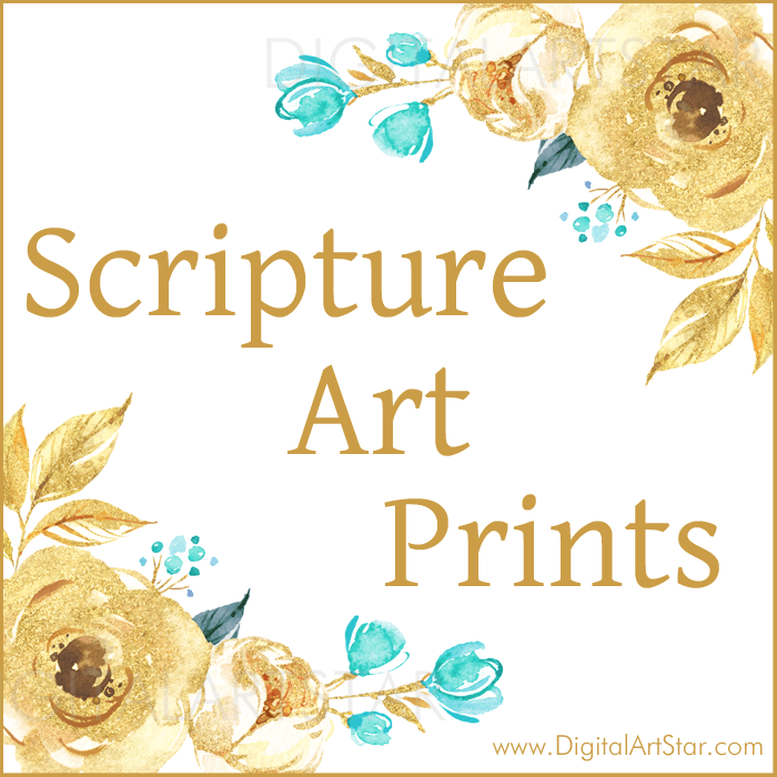 Gold Scripture Wall Art Printables