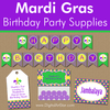 Mardi Gras Birthday Party Supplies and Ideas