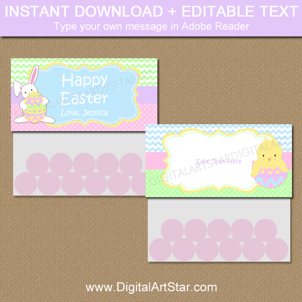 Easter Treat Bag Toppers Printable