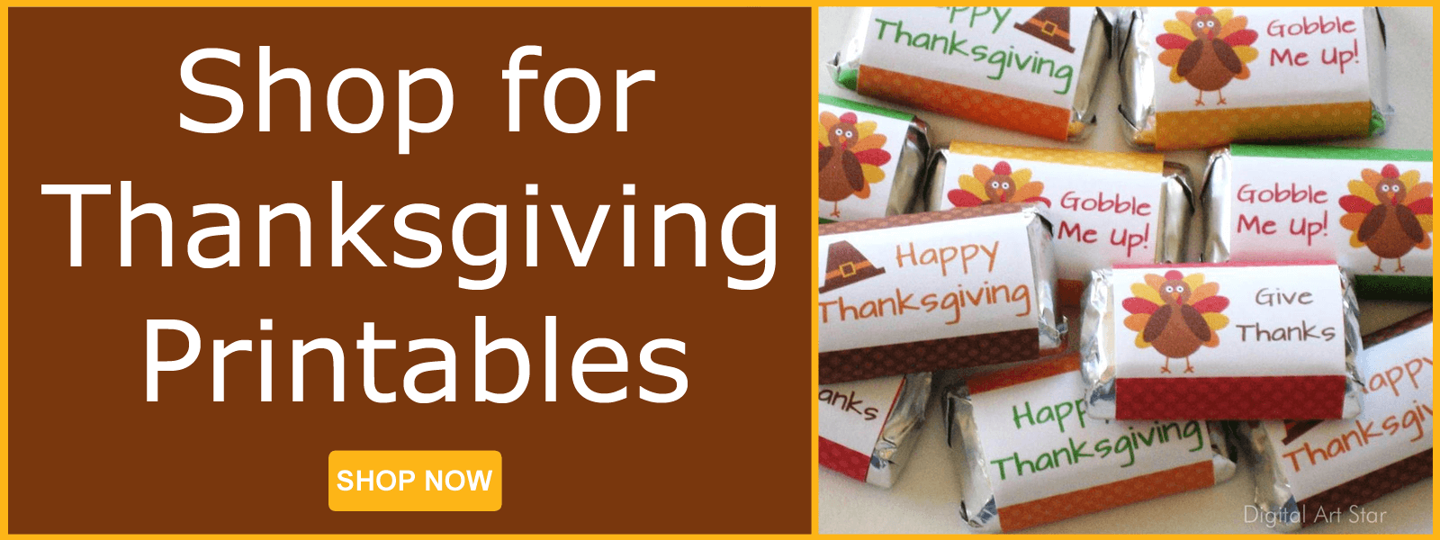 Thanksgiving Printables Candy Wrappers