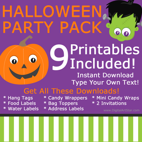 Printable Halloween Party Pack Halloween Party Bundle