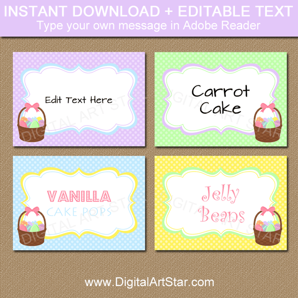 Printable Easter Basket Label Template