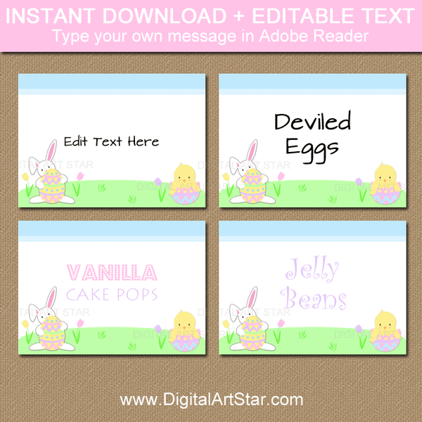 Easter Bunny Labels