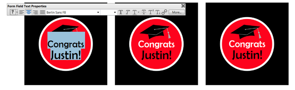 Type New Words on Graduation Cupcake Topper Template