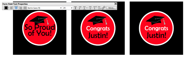 Editable High School Graduation Cupcake Toppers in Red and Black
