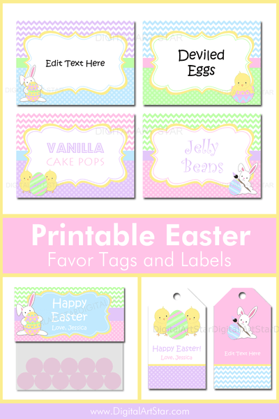 Printable Easter Favor Tags and Easter Labels