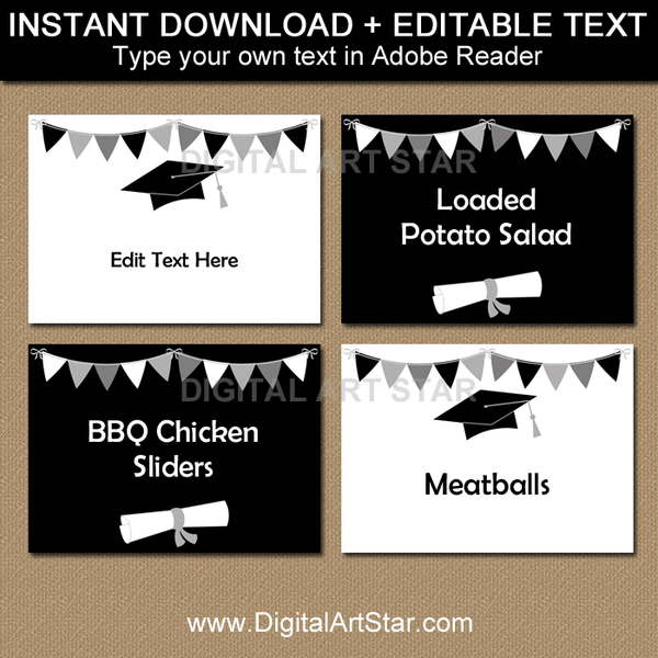 Quarantine Graduation Food Label Template