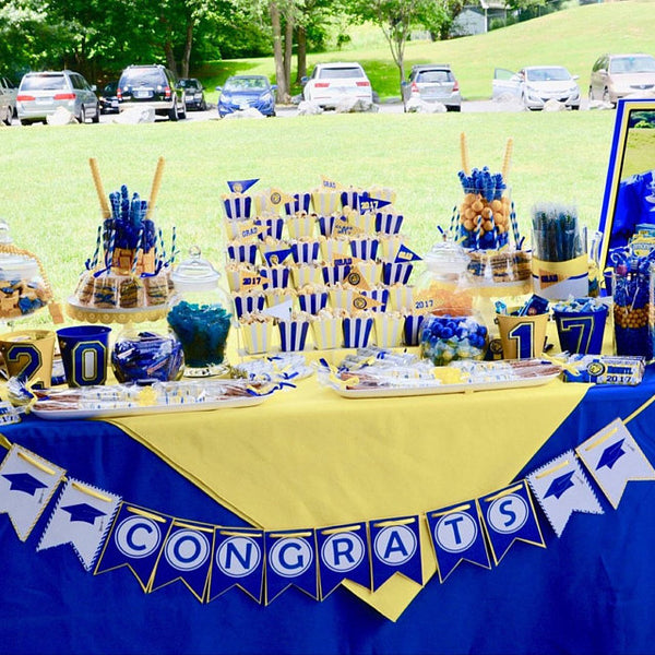 Royal Blue Graduation Banner Decoration