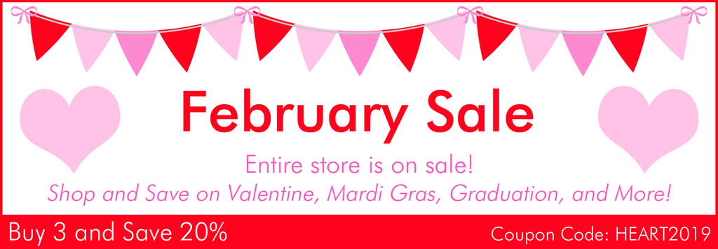 Valentine's Day Sale on Party Ideas and Decorations