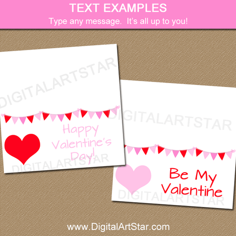 Valentine's Day Treat Bag Toppers with Editable Text