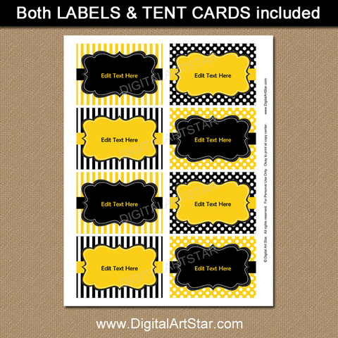 Golden Birthday Labels to Print