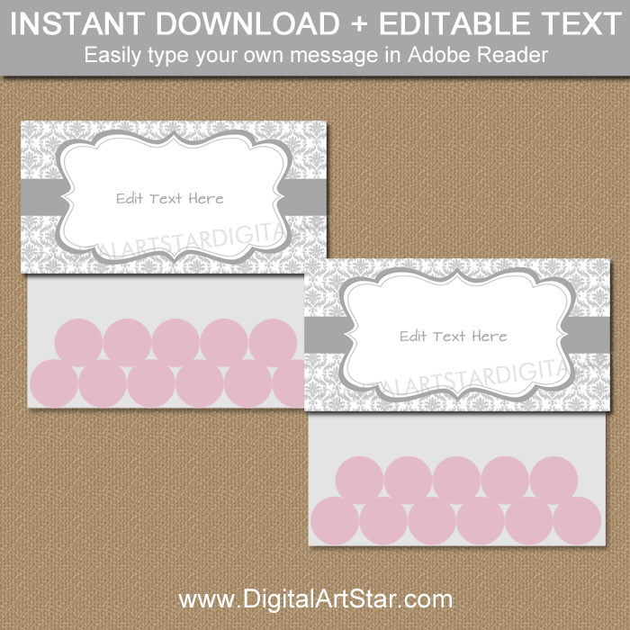 Editable Gray Bag Topper Template