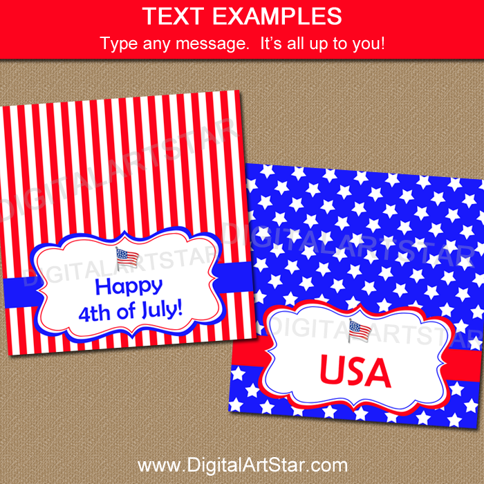 Fourth of July Candy Bag Idea